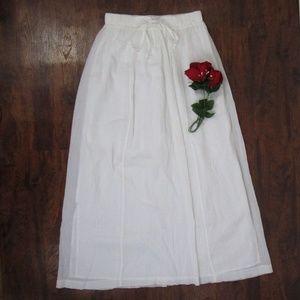 J. Crew NWT Gauze Maxi Skirt Sz XS White $89.50